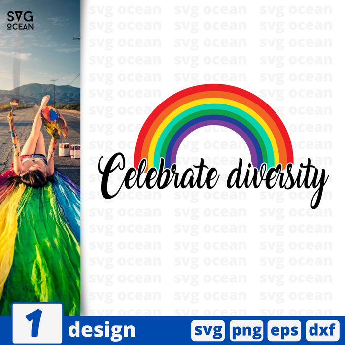 Celebrate diversity SVG vector bundle - Svg Ocean