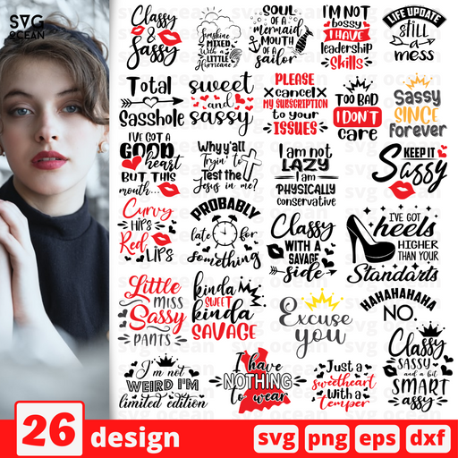 Sarcastic sassy SVG vector bundle - Svg Ocean