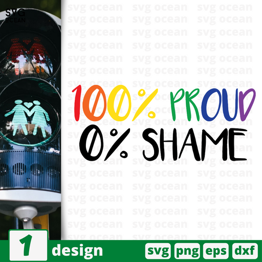 100%Proud 0%Shame SVG vector bundle - Svg Ocean