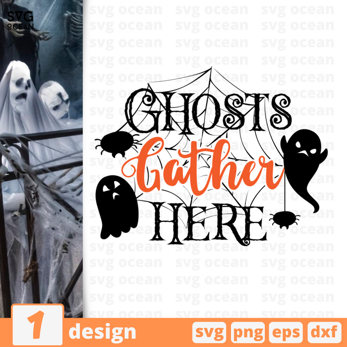 Ghosts gather here SVG vector bundle - Svg Ocean