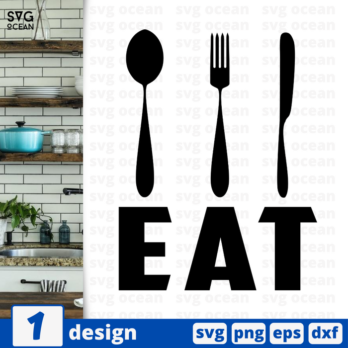 Eat SVG vector bundle - Svg Ocean