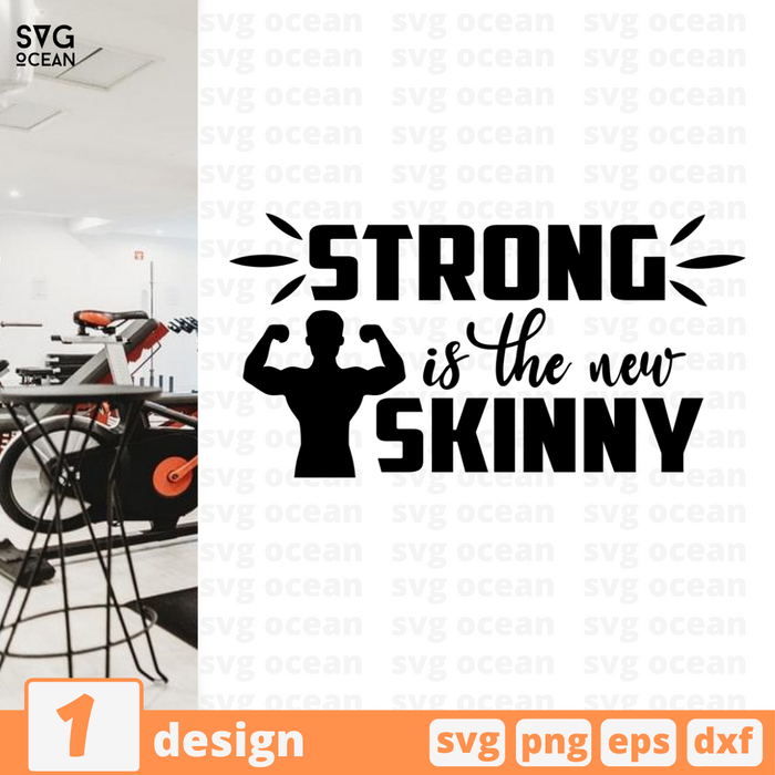Strong is the new skinny SVG vector bundle - Svg Ocean