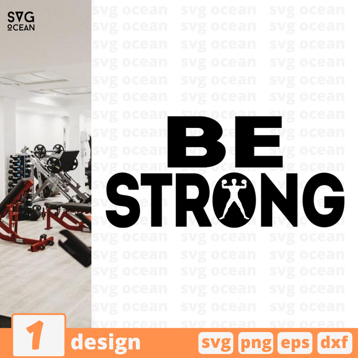 Be strong SVG vector bundle - Svg Ocean