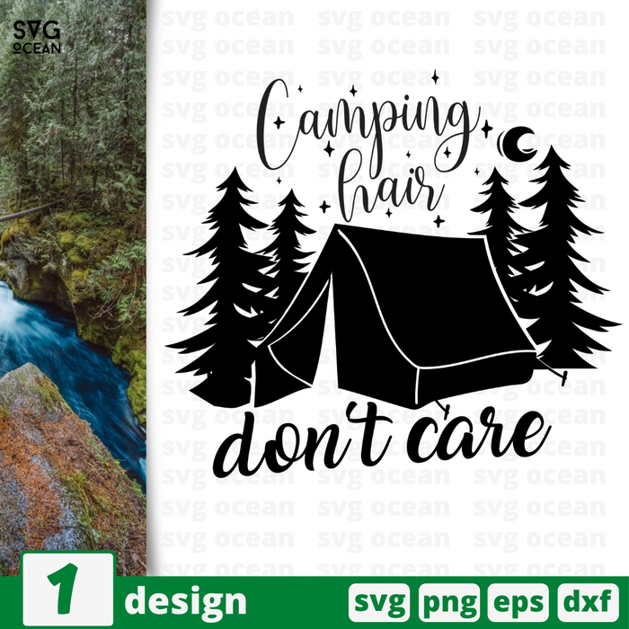 Camping hair don't careSVG vector bundle - Svg Ocean