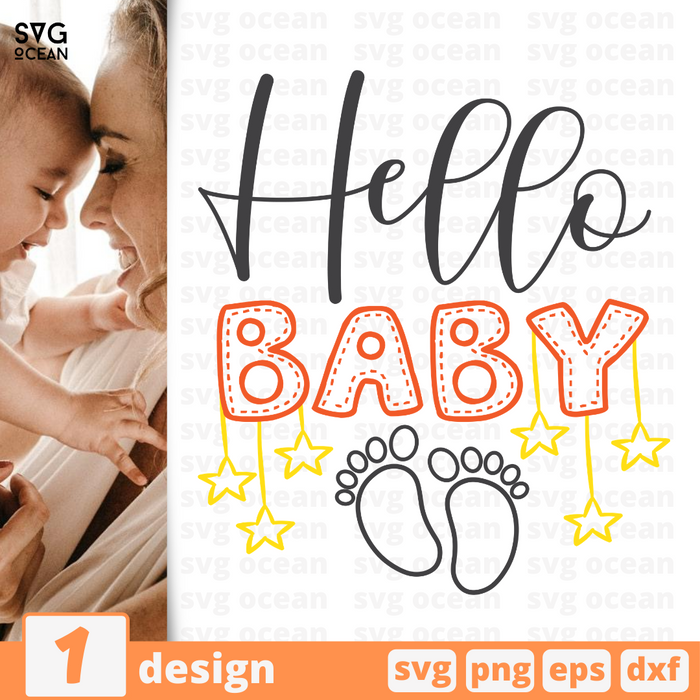 Hello baby SVG vector bundle - Svg Ocean