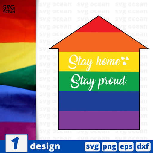 Stay home Stay proud SVG vector bundle - Svg Ocean