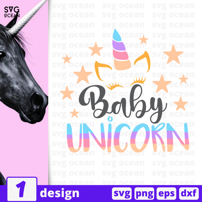 Baby unicorn SVG vector bundle - Svg Ocean