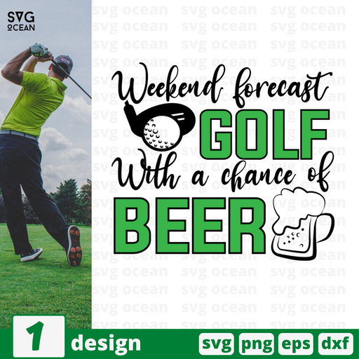 Weekend forecast With a chance of beer SVG vector bundle - Svg Ocean