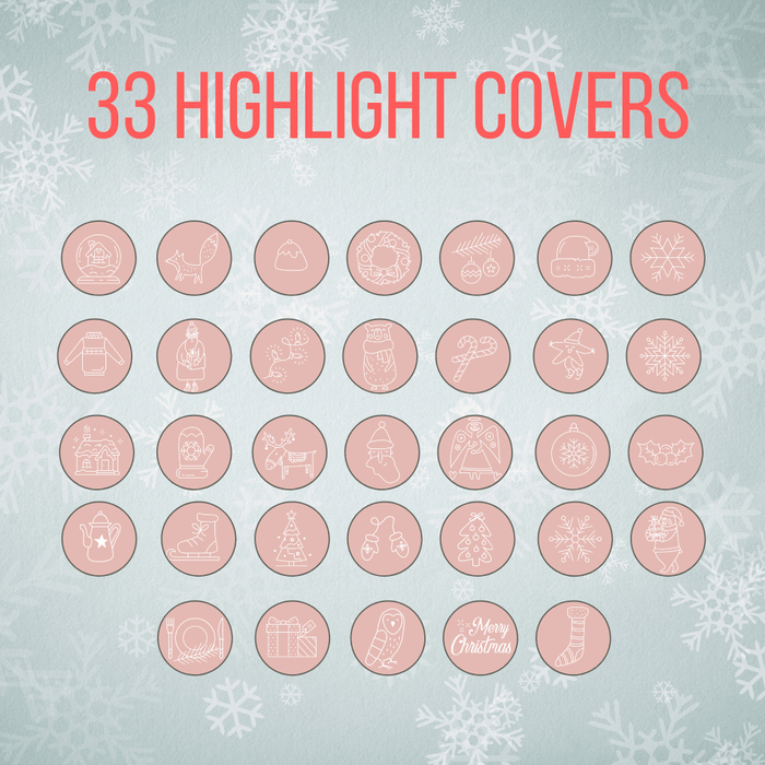 63 Christmas and New Year Instagram Highlight covers and templates