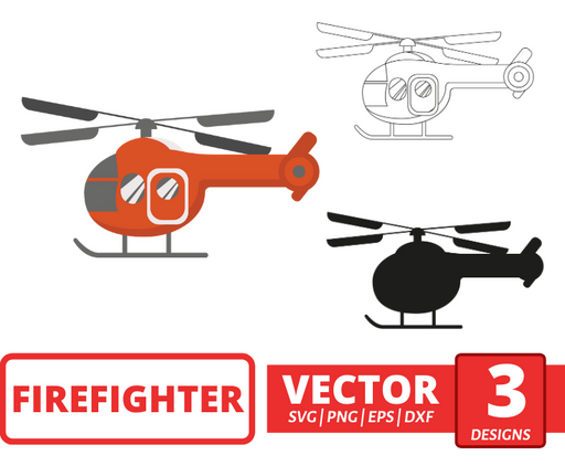 Fire helicopter SVG vector bundle - Svg Ocean