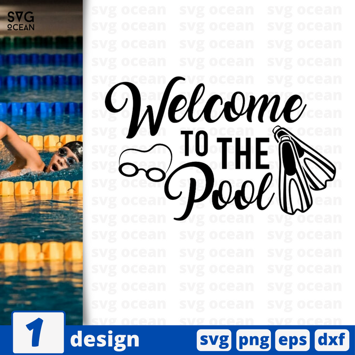 Welcome to the pool SVG vector bundle - Svg Ocean