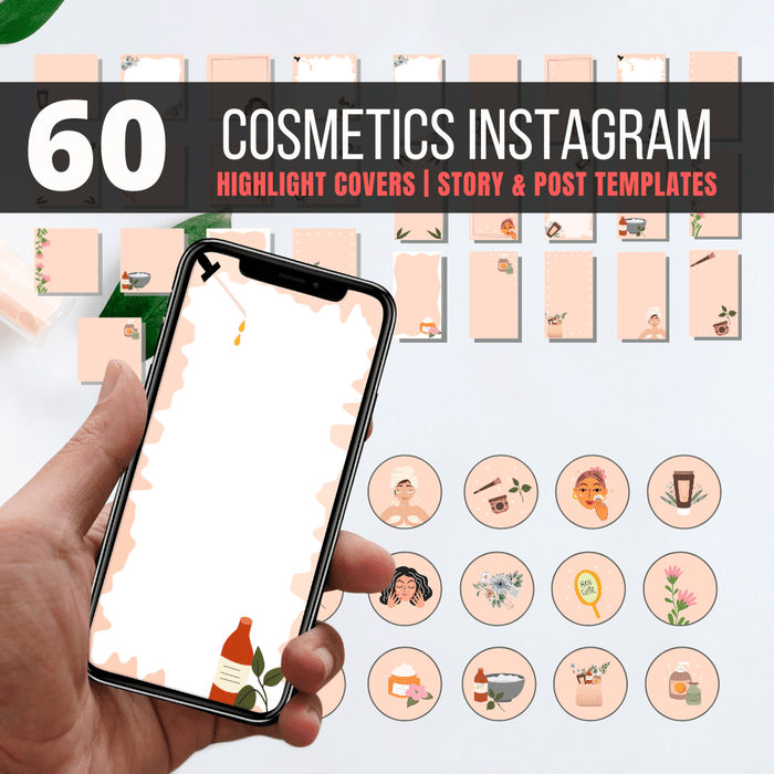 60 Natural Cosmetics Instagram Highlight covers and templates - Svg Ocean