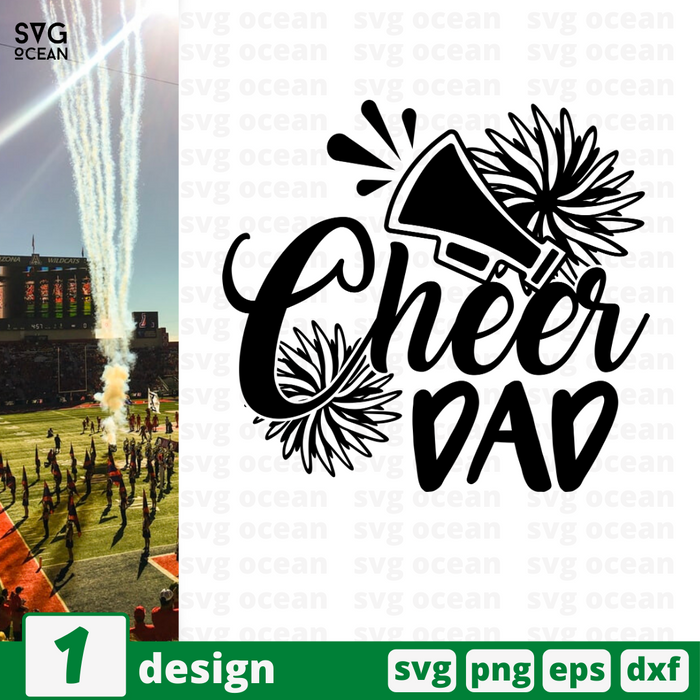 Cheer dad SVG vector bundle - Svg Ocean