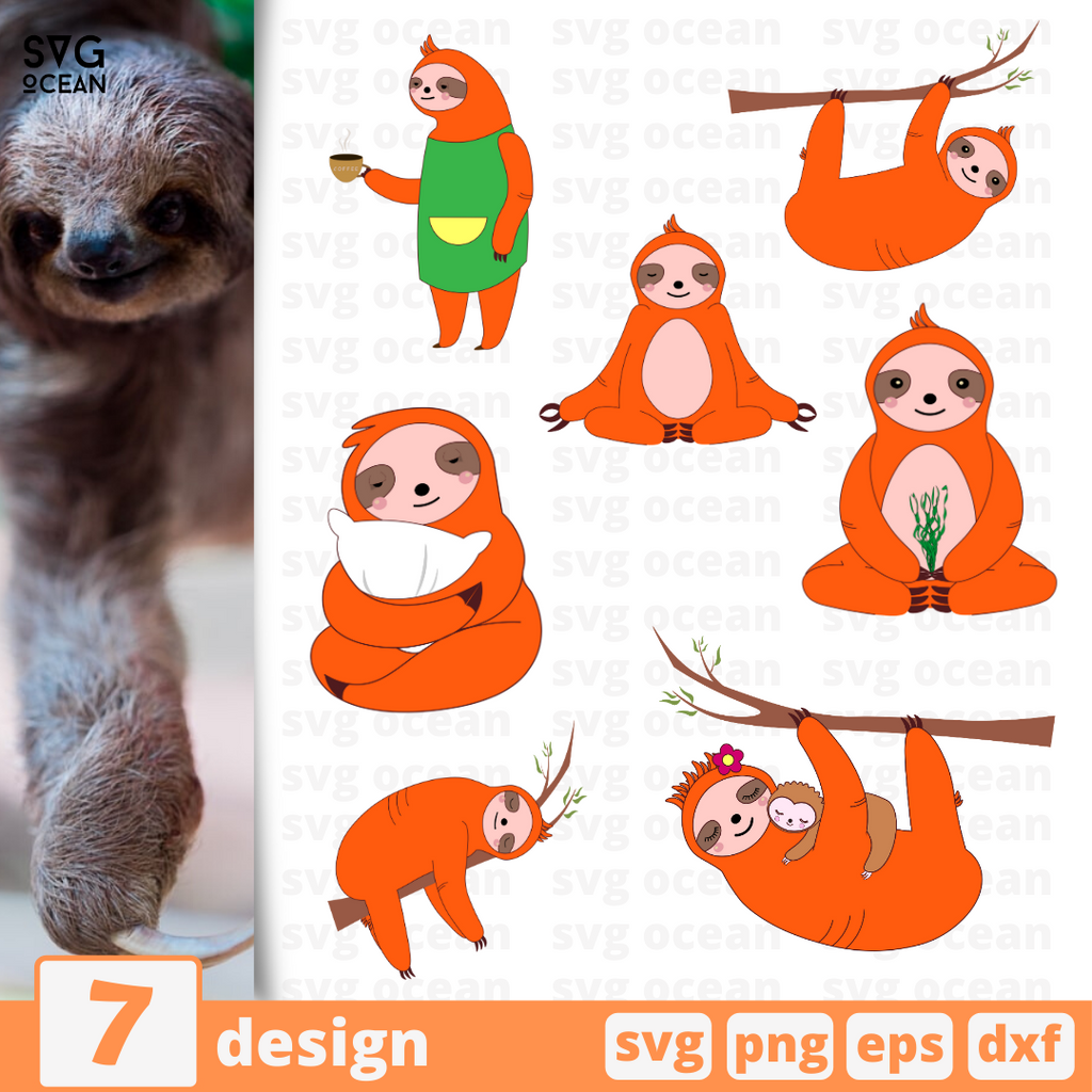 Sloth SVG vector bundle - Svg Ocean