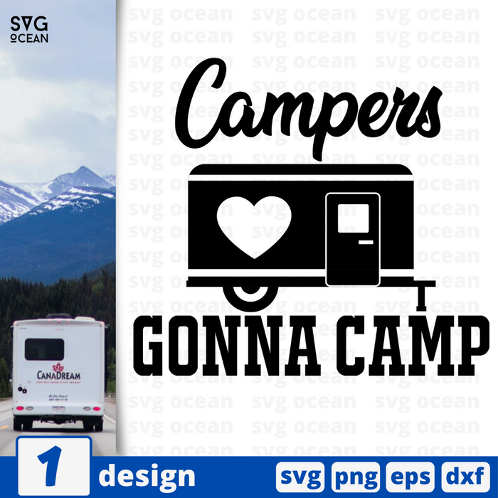 Campers gonna camp SVG vector bundle - Svg Ocean