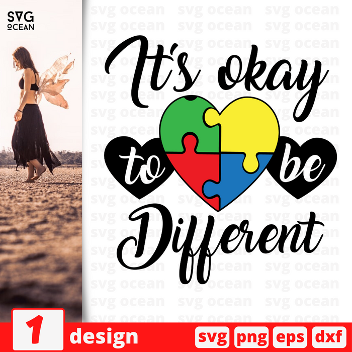 It's okay to be different SVG vector bundle - Svg Ocean