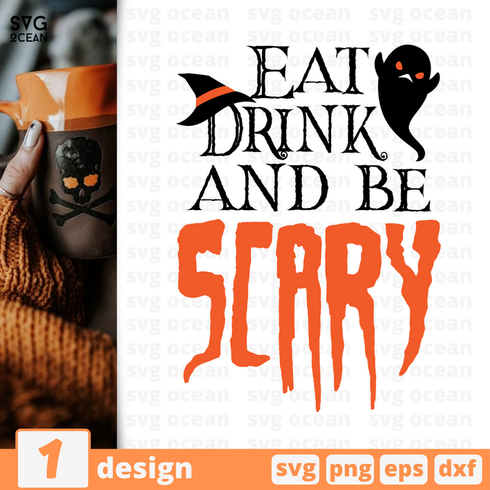Eat  Drink and be  Scary SVG vector bundle - Svg Ocean
