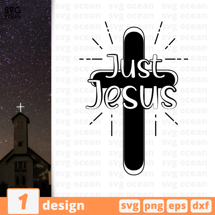 Just Jesus SVG vector bundle - Svg Ocean