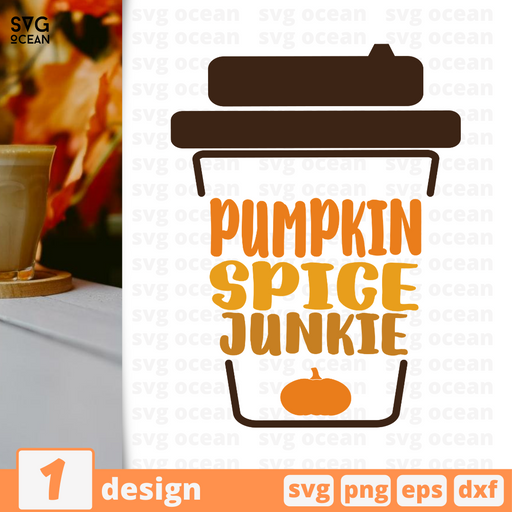 Pumpkin spice junkie SVG vector bundle - Svg Ocean