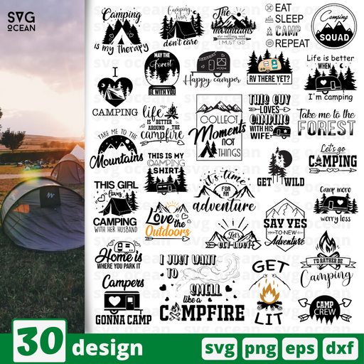 Camp quotes SVG vector bundle - Svg Ocean