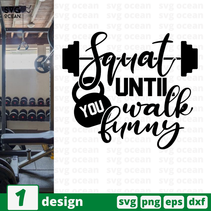 Squat until you walk funny SVG vector bundle - Svg Ocean