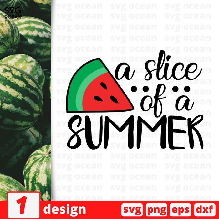 A slice of a summer SVG vector bundle - Svg Ocean