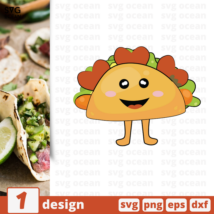 Free Taco quote SVG printable cut file Taco- Svg Ocean