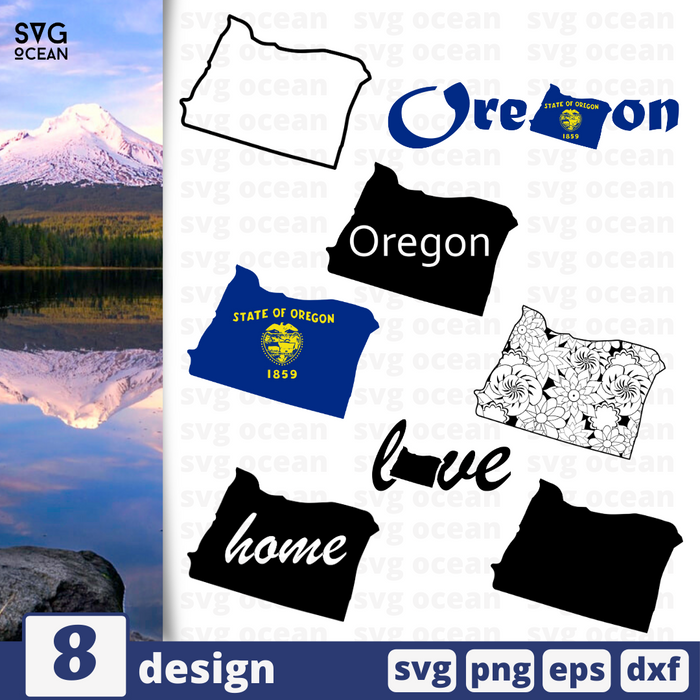 Oregon SVG vector bundle - Svg Ocean