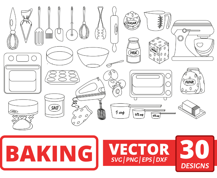 Baking SVG sketch outline - Svg Ocean