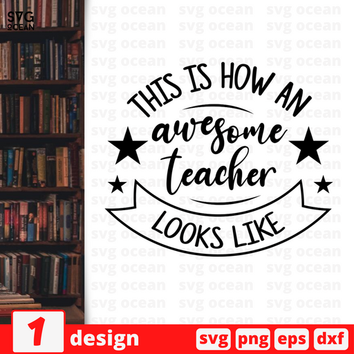 This is how an awesome Teacher looks like SVG vector bundle - Svg Ocean