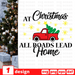 At Christmas all roads lead home SVG vector bundle - Svg Ocean