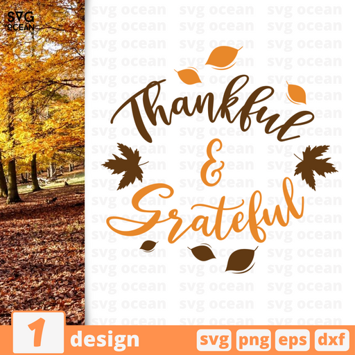 Thankful & Grateful SVG vector bundle - Svg Ocean