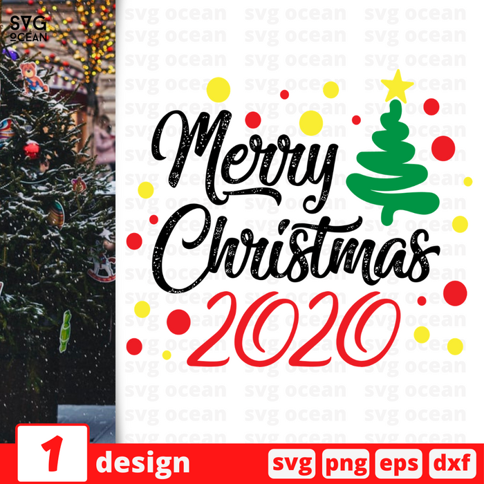 Merry Christmas 2020 SVG vector bundle - Svg Ocean
