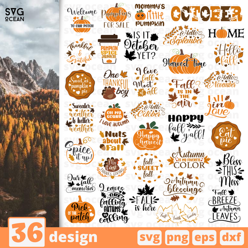 Autumn SVG vector bundle - Svg Ocean
