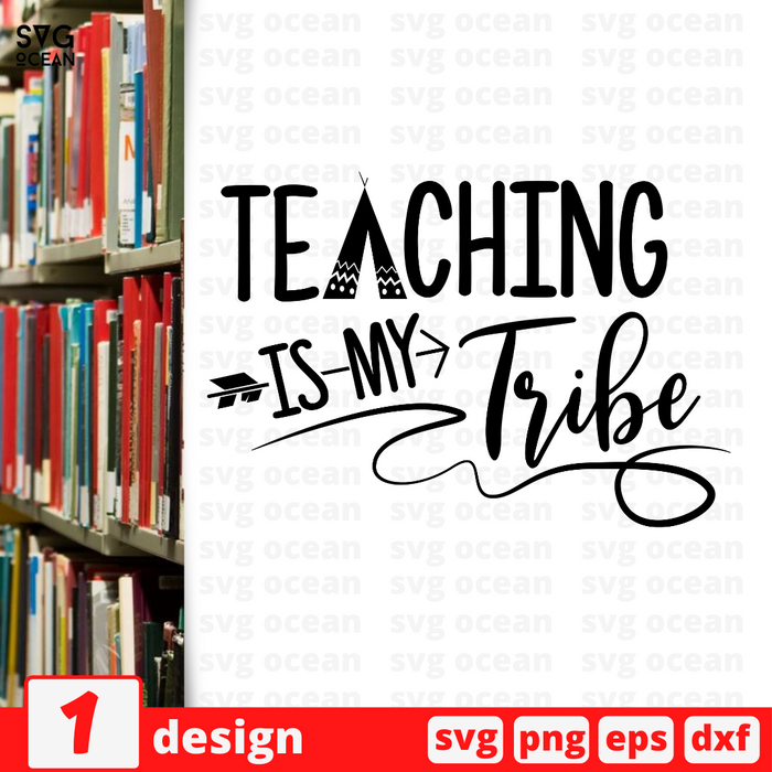 Teaching is my tribe SVG vector bundle - Svg Ocean