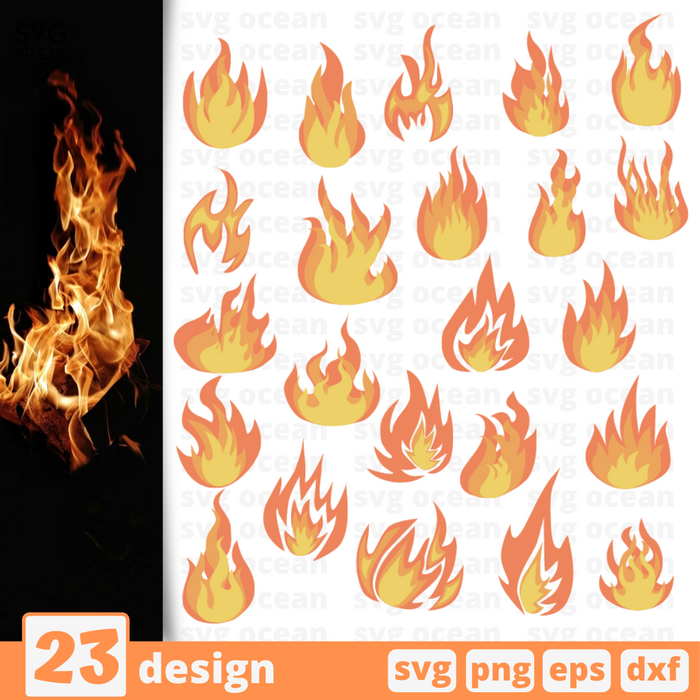 Fire SVG vector bundle - Svg Ocean