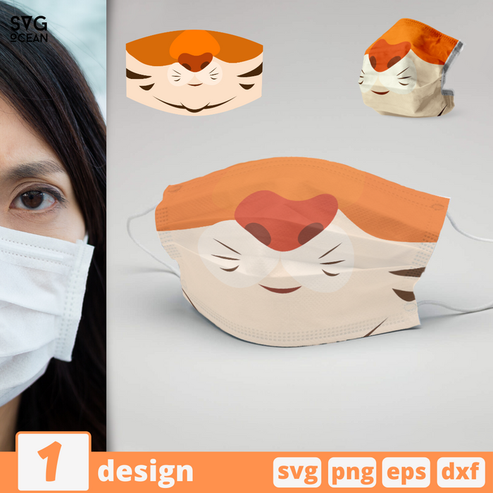 Tiger Face Mask svg pattern - Svg Ocean