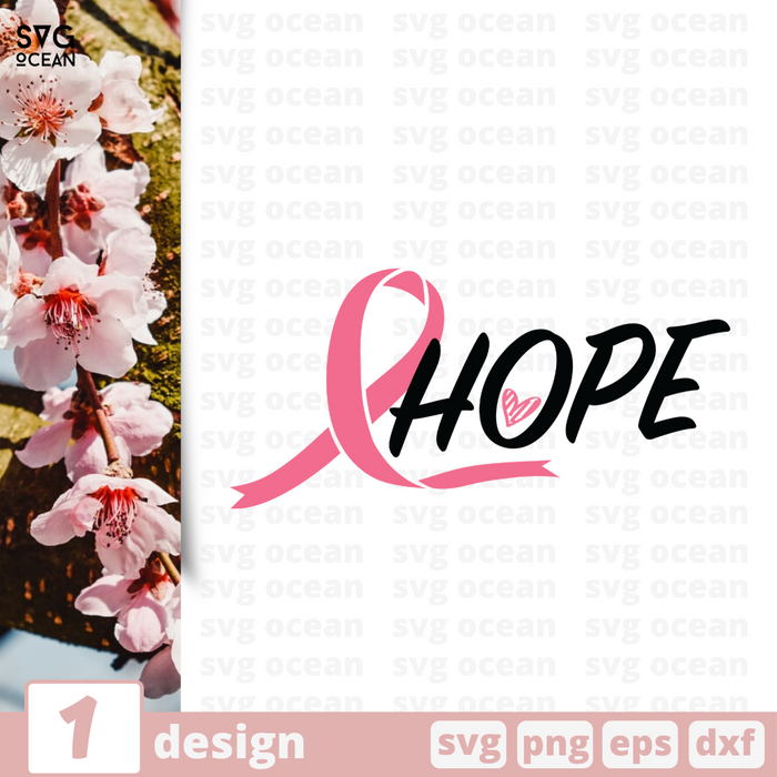 Free Hope quote SVG printable cut file Hope - Svg Ocean