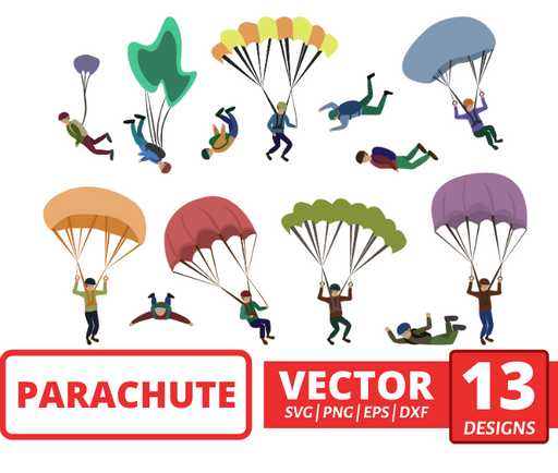 Parachute SVG vector bundle - Svg Ocean