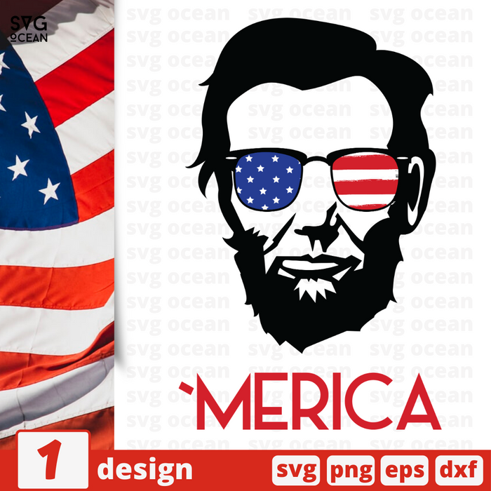 Free Abraham Lincoln quote SVG printable cut file America - Svg Ocean