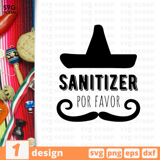 """Sanitizer por favor"" Cinco De Mayo SVG quote - Svg Ocean"
