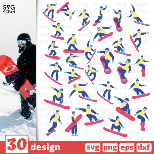 Snowboarder SVG vector bundle - Svg Ocean