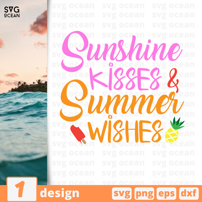 Sunshine kisses & summer wishes SVG vector bundle - Svg Ocean