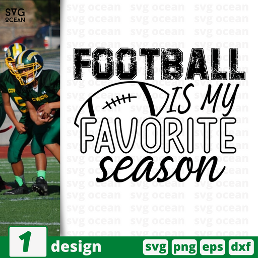 Football is my favorite season SVG vector bundle - Svg Ocean