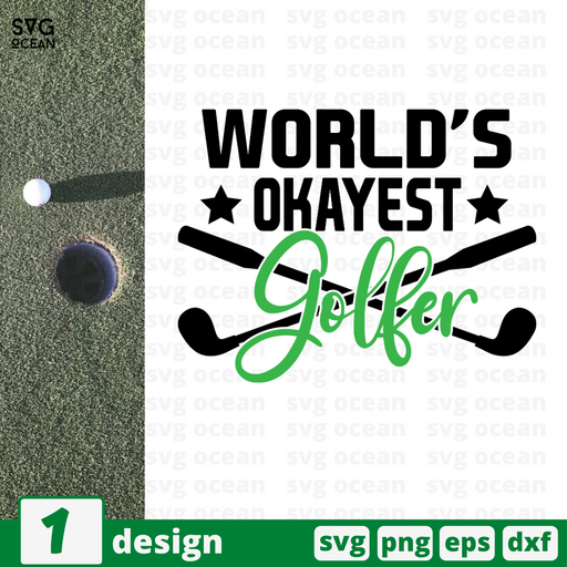 World's okayest golfer SVG vector bundle - Svg Ocean
