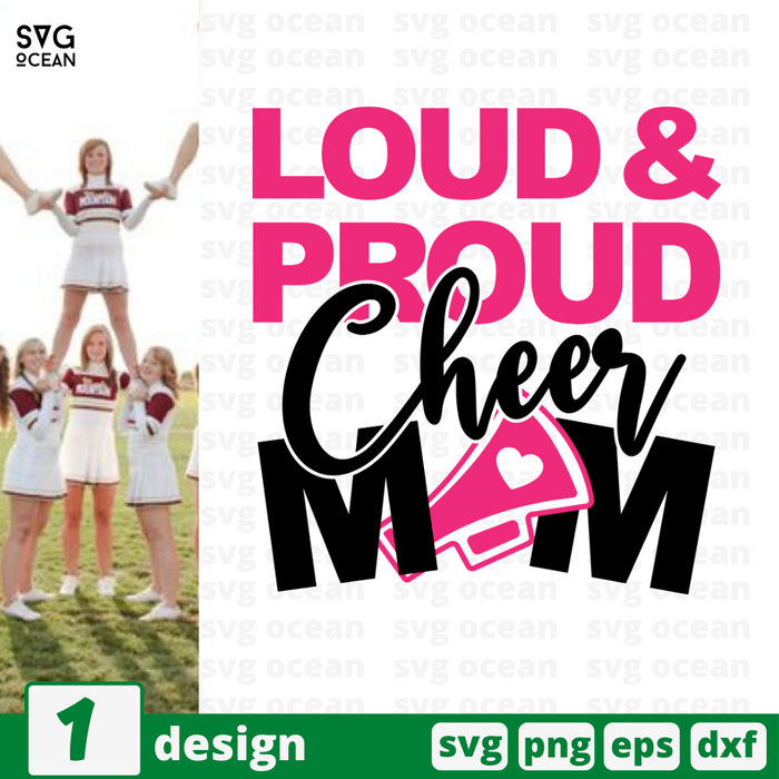 Loud & Proud Cheer mom SVG vector bundle - Svg Ocean