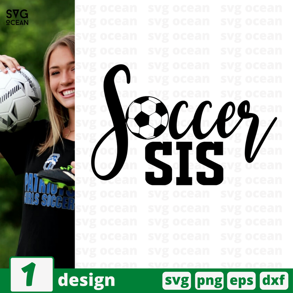 Soccer sis SVG vector bundle - Svg Ocean