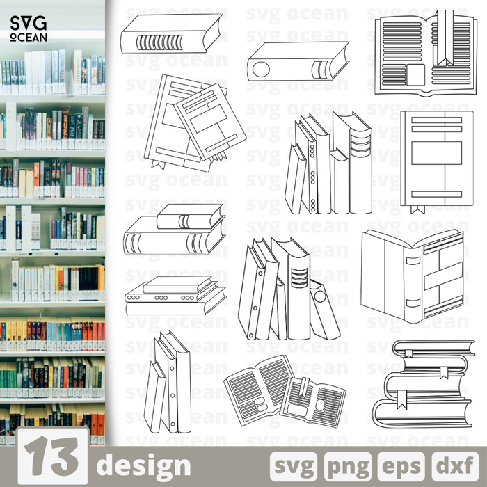 Books SVG Bundle