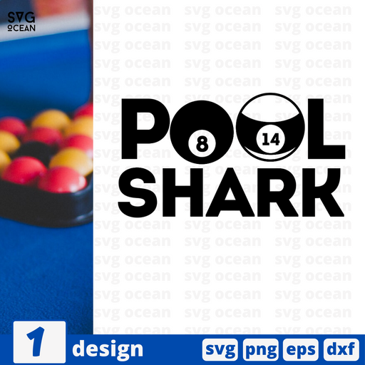 Pool shark SVG vector bundle - Svg Ocean