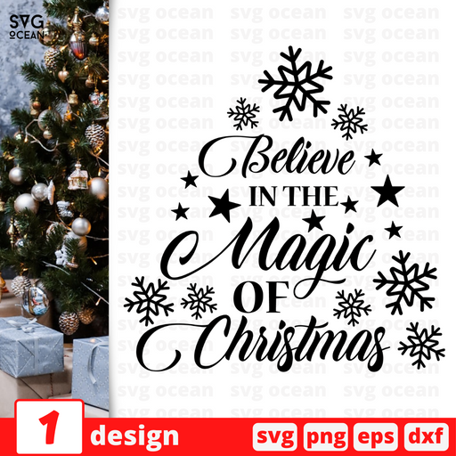Believe in the magic of Christmas SVG vector bundle - Svg Ocean